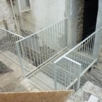 steel footway railings