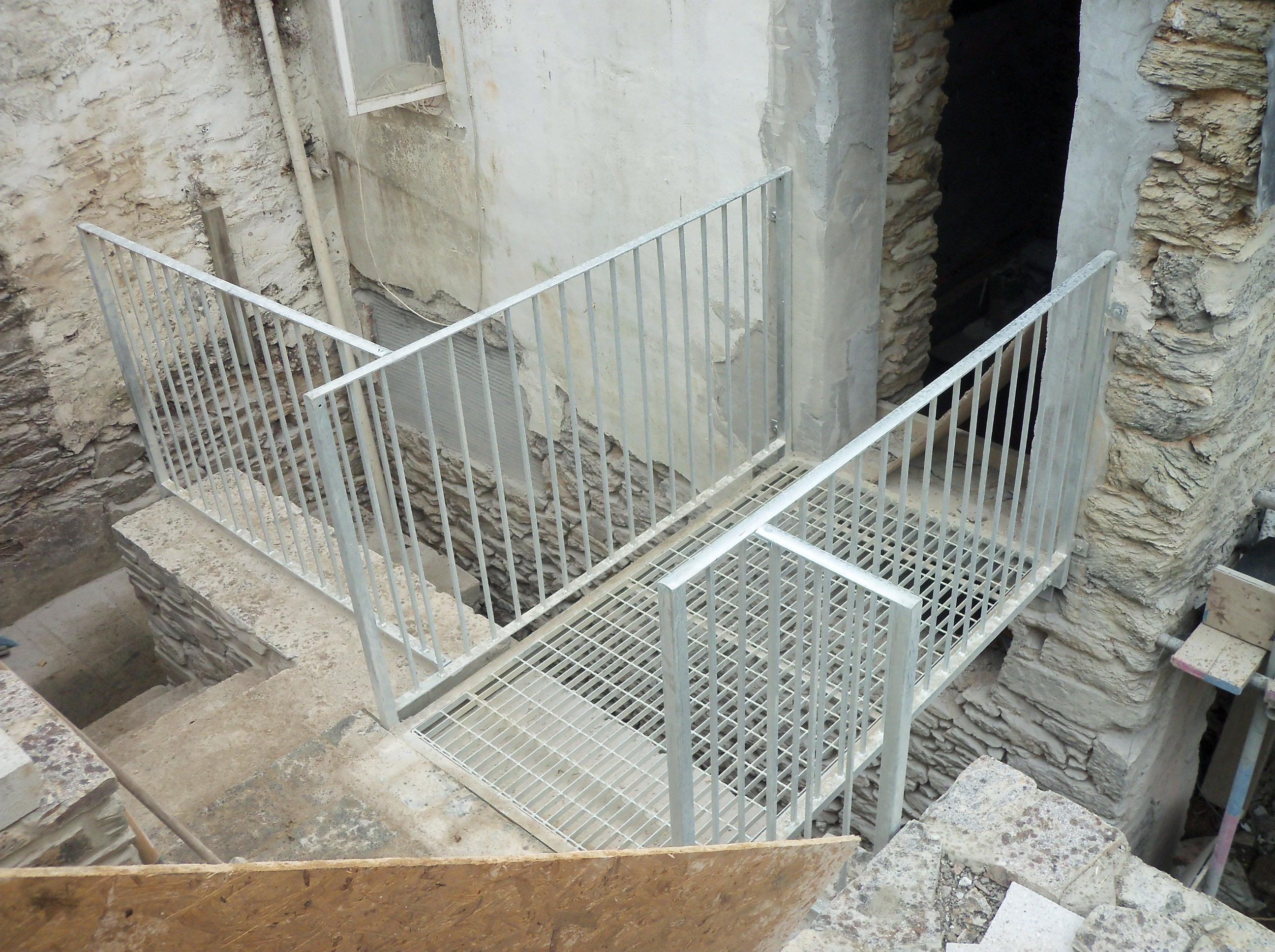 steel footway railings