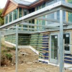 structural steel balcony frame