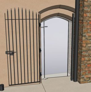 old cathedral school gate CAD image open