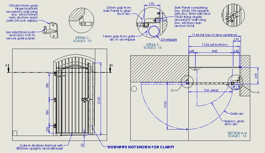 Old Cathedral School Gate Drawings