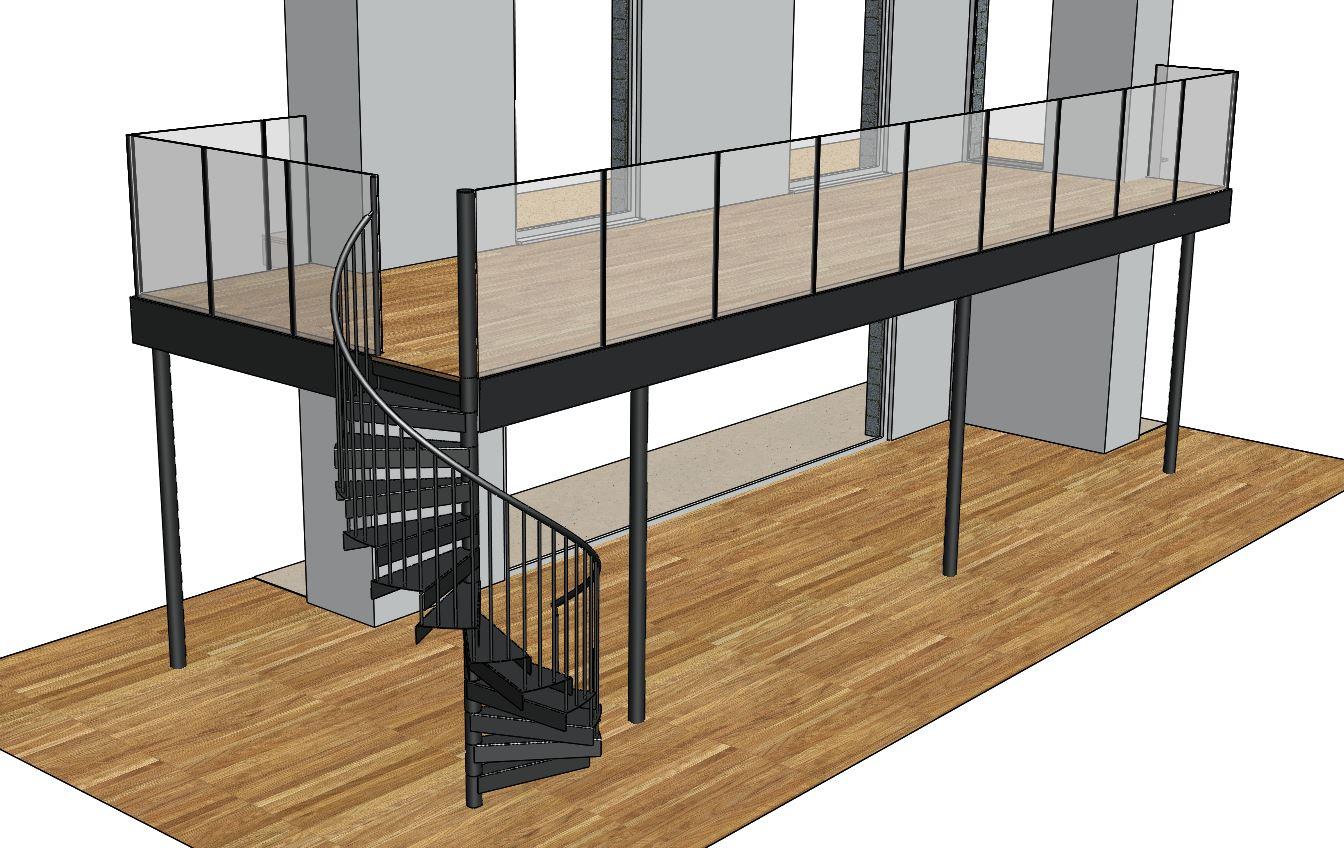 Balcony metal surgery projects balcony spiral for Balcony renovation