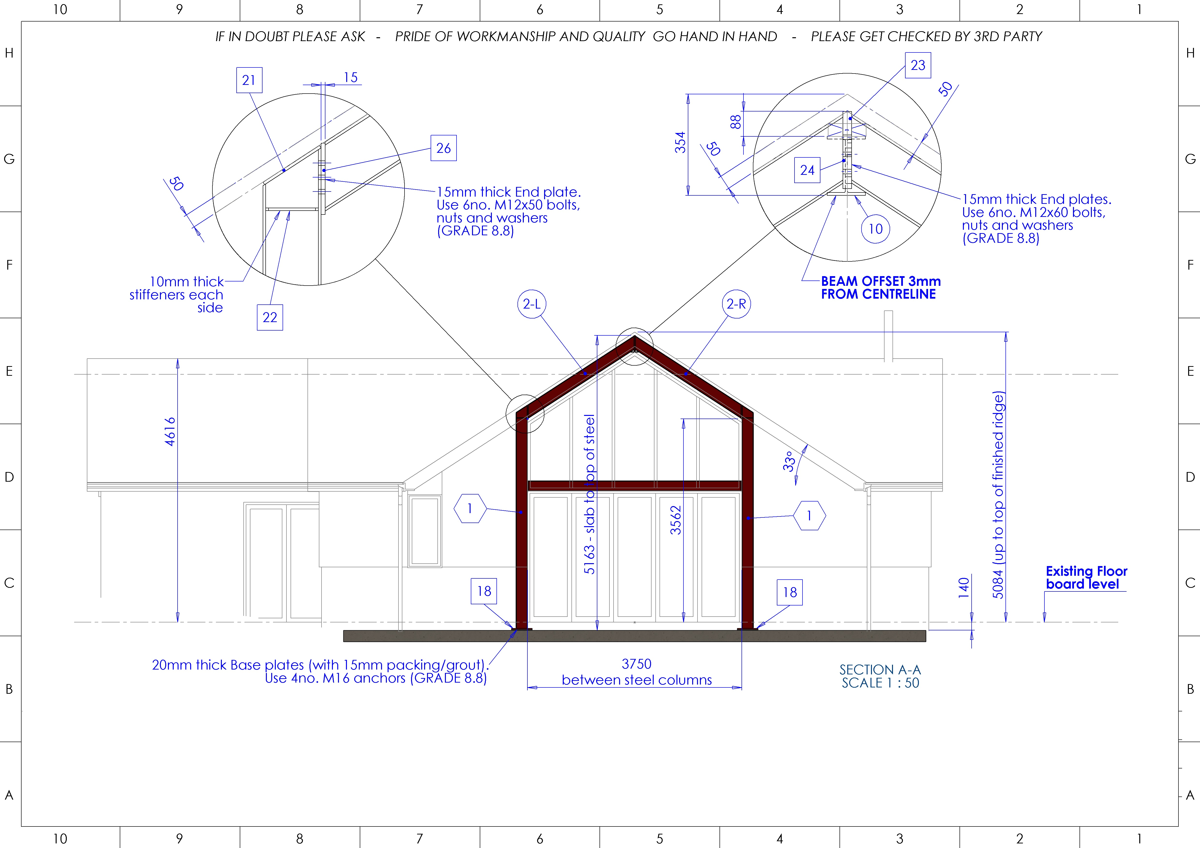 extension drawing